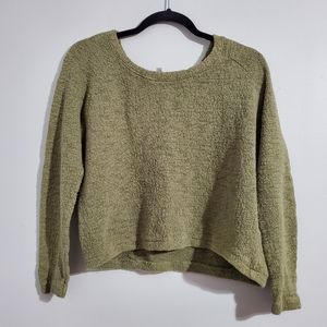 Zara Olive Green Cropped Sweater Size S